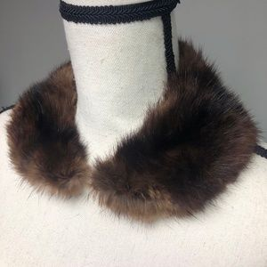 VTG 50s 60s Genuine Fur Fox or Mink Collar Stole